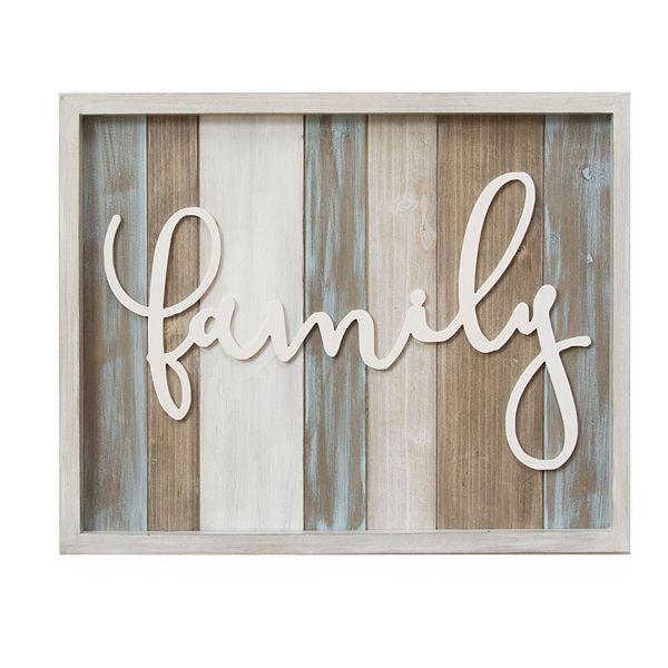 Stratton Home Decor Family Wood Wall Decor