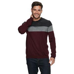 Men's Apt. 9® Striped Merino Wool-Blend Crewneck Sweater