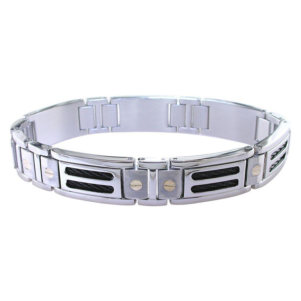 LYNX Stainless Steel & 10k Gold Bracelet