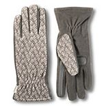 Women's isotoner Stretch Fleece Gloves with smarTouch & smartDRI Technologies