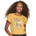 Juniors' Joshua Tree Desert California Graphic Baby Tee