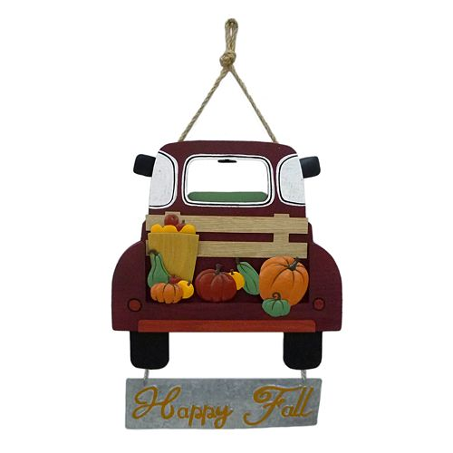 """Celebrate Fall Together """"Happy Fall"""" Truck Wall Decor"""