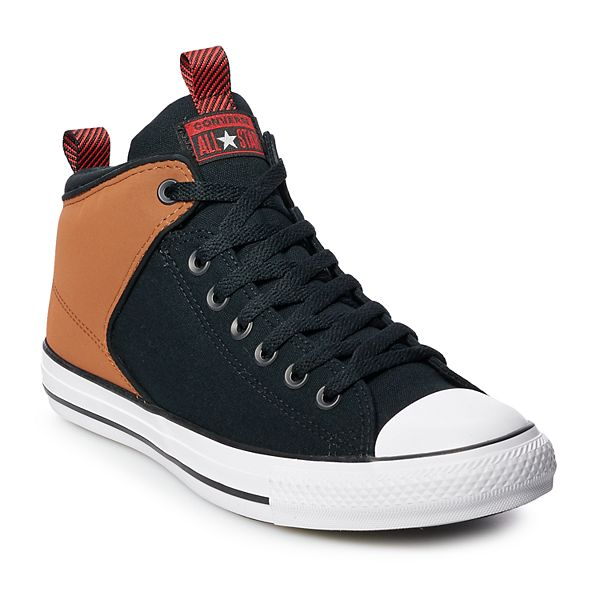 NEW Converse Chuck Taylor All Star High Street Hi Leather Black Shoes Mens Sz 8