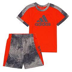 Baby Boy adidas Logo Top & Shorts Set