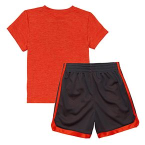 Baby Boy adidas Graphic Tee & Striped Shorts Set