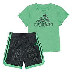 Toddler Boy adidas Impact Graphic Tee & Shorts Set