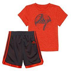 Toddler Boy adidas Impact Graphic Tee & Shorts Set