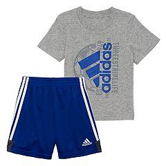 Toddler Boy adidas Graphic Tee & Shorts Set
