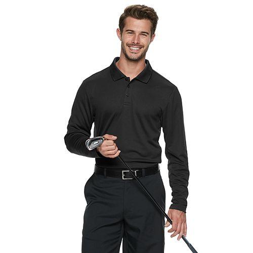 Men's Tek Gear® Polo Long Sleeve Shirt