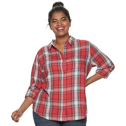 Juniors' SO® Button Up Shirt