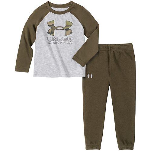 Baby Boy Under Armour Camo Raglan Tee & Jogger Pants Set