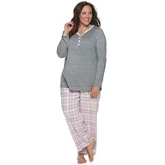 Plus Size Christmas Pajamas.Womens Croft Barrow Plus Sleepwear Clothing Kohl S