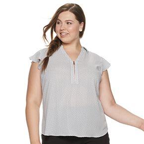 Juniors' Candie's® Plus Flutter Sleeve with Zipper