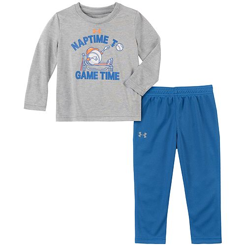"Baby Boy Under Armour ""Naptime to Game Time"" Graphic Tee & Pants Set"