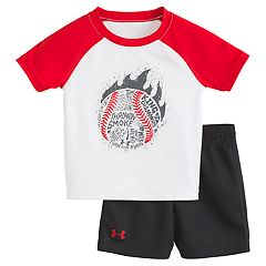 Baby Boy Under Armour Throwin' Smoke Beaseball Tee & Shorts Set
