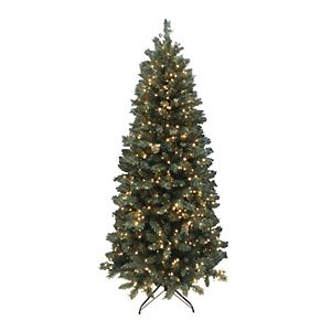 St. Nicholas Square 7-ft. Emerald Green Tree PVC With Warm White Micro Lights