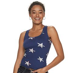 729bd037a64add Juniors' Cloud Chaser Stars & Stripes Smocked Tank