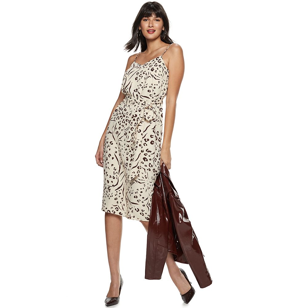 Women's Nine West Belted Slip Dress
