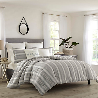 Relax by Tommy Bahama Island Stripe Duvet Cover Set