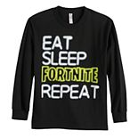 Boys 8-20 Fortnite Eat, Sleep Repeat Tee