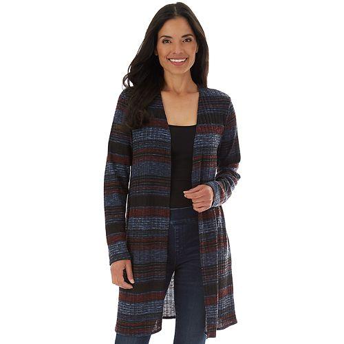 Women's Apt. 9® Ribbed Long Sleeve Cardigan