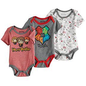 Baby Boy 3-Pack Harry Potter Bodysuits