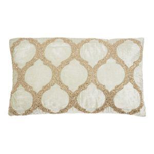 Inspire Me! Home Decor Beaded Lattice Spa Throw Pillow