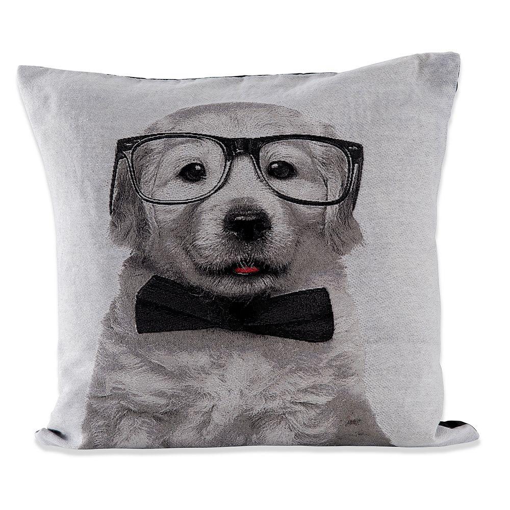 Natco Puppy In Glasses Decorative Pillow