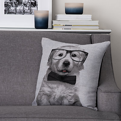 Natco Puppy In Glasses Decorative Pillow