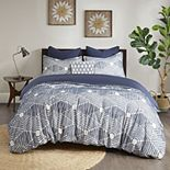 INK+IVY Ellipse Cotton Jacquard Duvet Cover Set