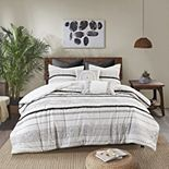 INK + IVY Nea Cotton Printed Comforter Set with Trims
