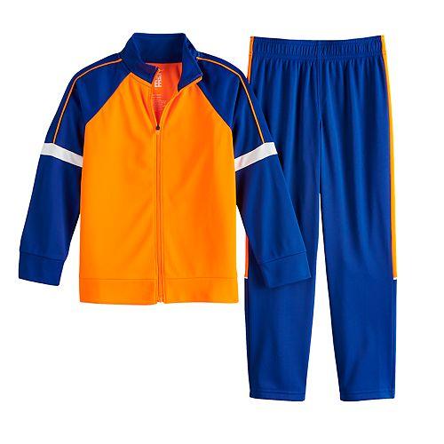 Boys 4-12 Jumping Beans® Colorblock Zip Track Jacket & Pants Set