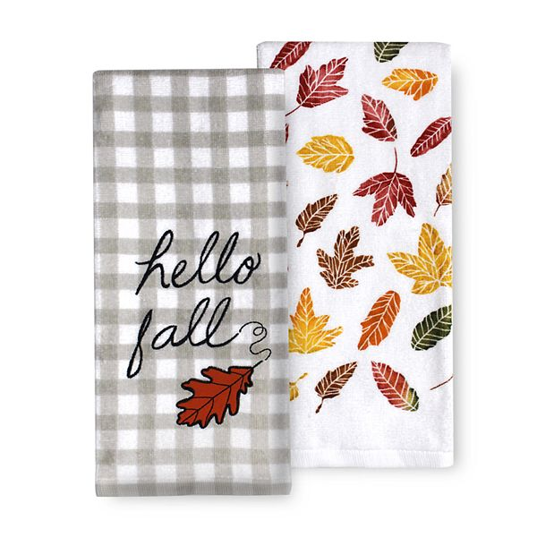 Celebrate Fall Together Hello Fall Kitchen Towel 2 Pk
