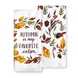 Celebrate Fall Together Autumn Color Kitchen Towel 2-pk.