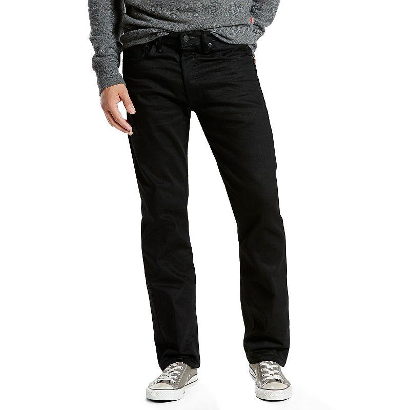 Men's Levi's 501 Original Fit Jeans, Size: 44X30, Black