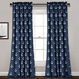 Lush Decor 2-pack Anchor Room Darkening Window Curtain Set