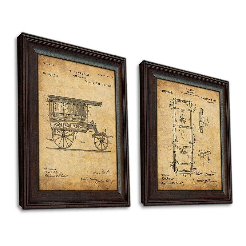 EMT 2 Piece Framed US Patent Set Wall Art, 14X17