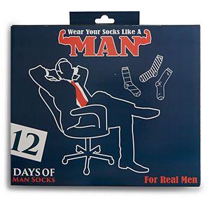 Men's 12 Days of Socks, Manly Prints