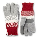 Women's isotoner Knit Modern Snowflake Glove with smartDRI & smarTouch Technologies