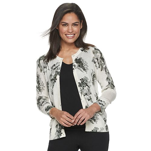 Women's Croft & Barrow® Button Front Cardigan