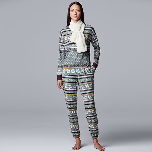 Women's Simply Vera Vera Wang 3-Piece Pajama Set