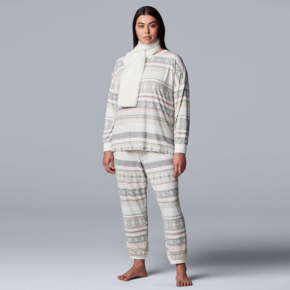 Plus Size Simply Vera Vera Wang 3-Piece Pajama Set