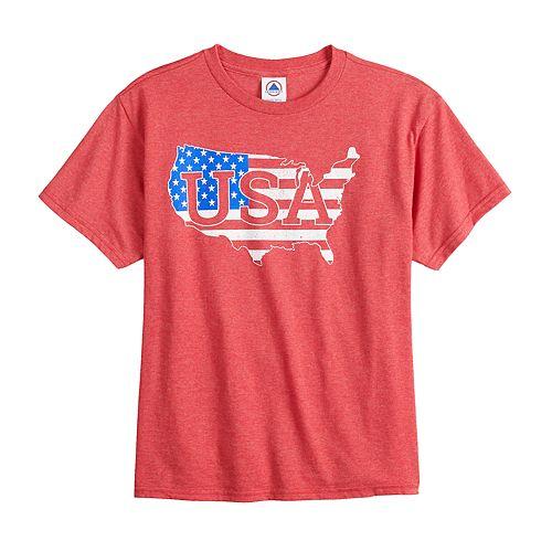 """Boys 8-20 """"USA"""" Graphic Tee"""
