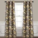 Lush Decor 2-pack Delsey Floral Absolute Blackout Window Curtains