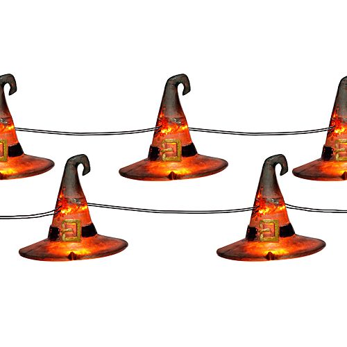 Manor Lane 10 Witch Hat Shimmer String Lights
