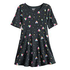 9c24c37e263a High Low White Dress. Toddler Girl Jumping Beans® Printed Princess Seam  Dress