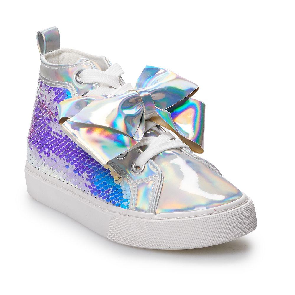 JoJo Siwa Iridescent Sequin Girls' High Top Shoes