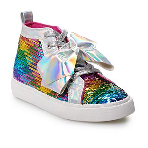 JoJo Siwa Rainbow Sequin Girls' High Top Shoes