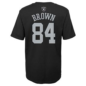 Boys 4-18 Oakland Raiders Antonio Brown Name and Number Tee