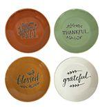 Celebrate Fall Together 4-pc. Harvest Appetizer Plate Set
